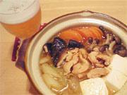 牡蠣とキノコの味噌鍋