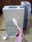 ブロック塗装中