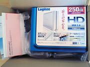 ロジテック外付けハードディスク 到着