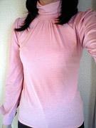 長袖ピンク