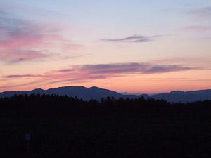 夕茜舎近辺から見た夕焼け