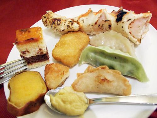 バリューコマースEXPO2009 試食会の皿