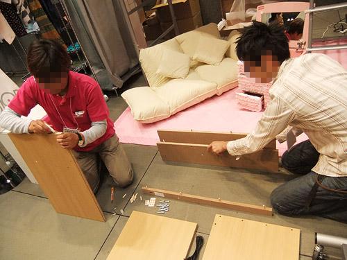 ニッセン 家具組み立て実演