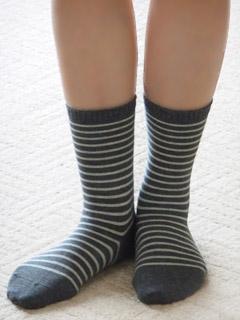 無印良品 新・足なり直角靴下 着用