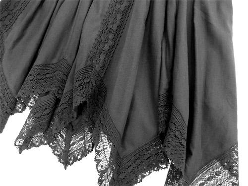 ニッセン イレギュラーヘムスカート 裾