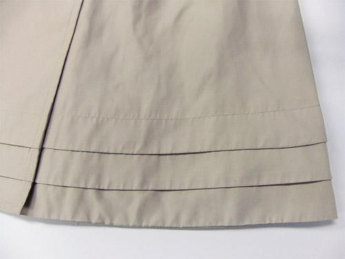 ニッセン トレンチコート 裾