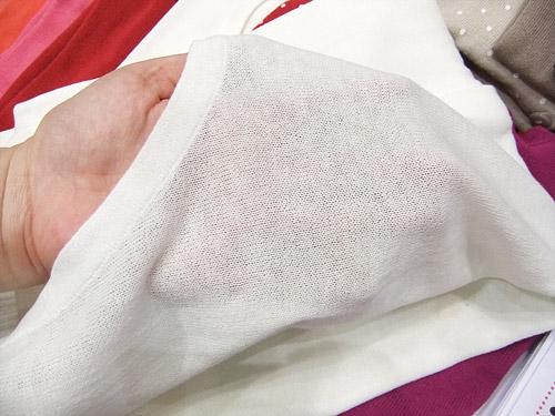セシール 40色クルーネックニットカーディガン 生地