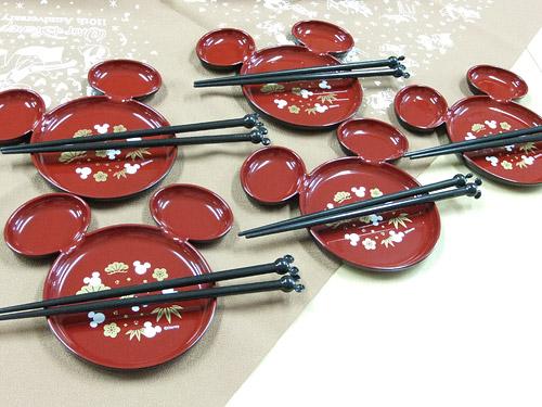 ディズニー 取り皿5枚&お箸5膳セット
