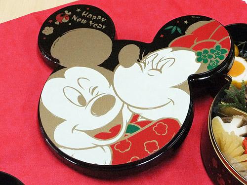 おせち・ミッキーマウス&ミニーマウス 重箱の蓋