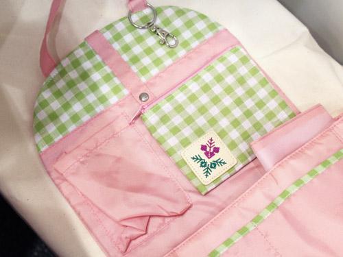 フェリシモ リュックのためのインナーポケット ピンク