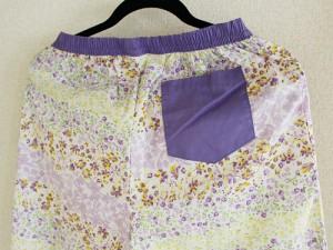 ベルメゾン ステテコ ライトパープル(小花) ポケット