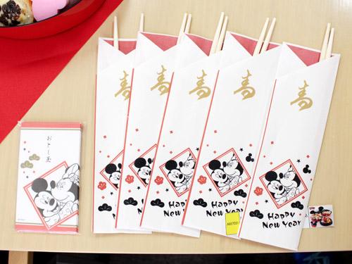 ミッキーおせち2015年 祝い箸&ポチ袋