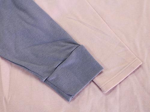 綿100%ホットコット レディースとメンズの袖の違い
