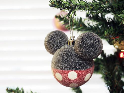 ミッキーフレンズクリスマスツリー ミッキー型ボールオーナメント