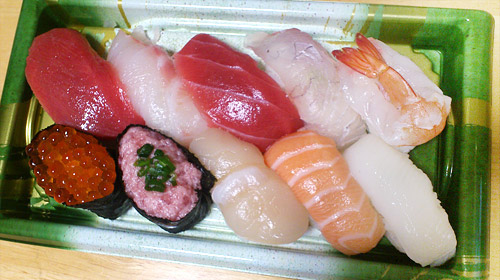 角上魚類 握り寿司10貫 赤身