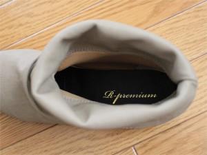 ショートレインブーツ  履き口