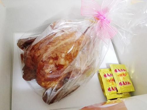 蕨『肉の青木』 丸鶏ローストチキン 開封