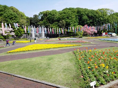 川口市立グリーンセンター 花壇広場