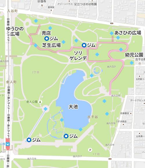 舎人公園 レアポケモンの出現場所と回り方